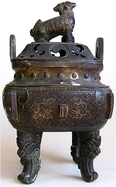 Antique Chinese Ming Bronze Incense Burner Dated Xuande