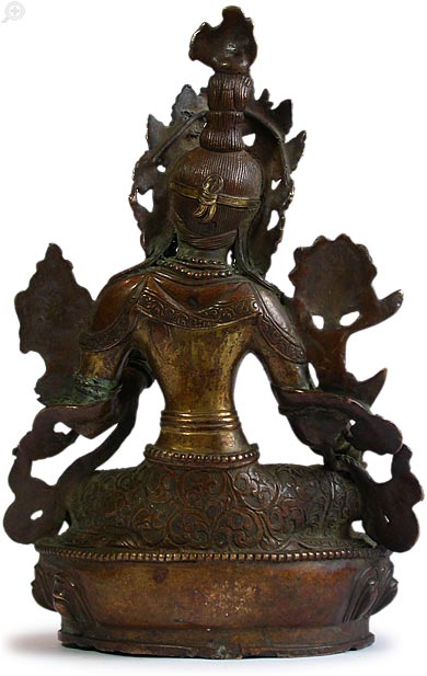 Goddess Green Tara back view