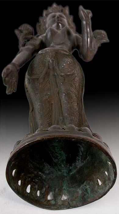 Antique Nepalese Bronze Standing Tara Buddha Statue