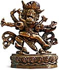 Gilt Bronze Mahakala and Consort