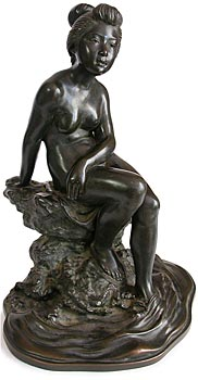 Meiji Bronze Nude Bather