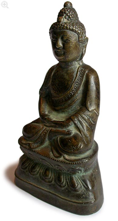 Bronze Amitabha left