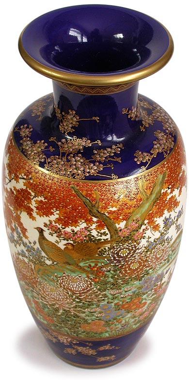Antique Japanese Pheasant Pair Love And Prosperity Symbol Satsuma