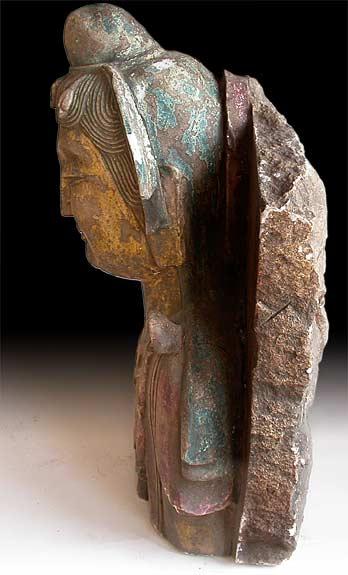 Live Size 6th Century Marble Maitreya Buddha Bust