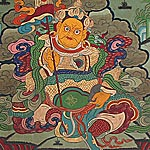 Yellow Jambhala Thangka