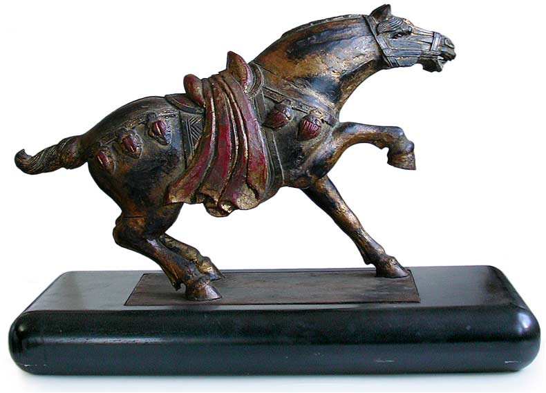 Gilt Ming Dynasty Wood Horse